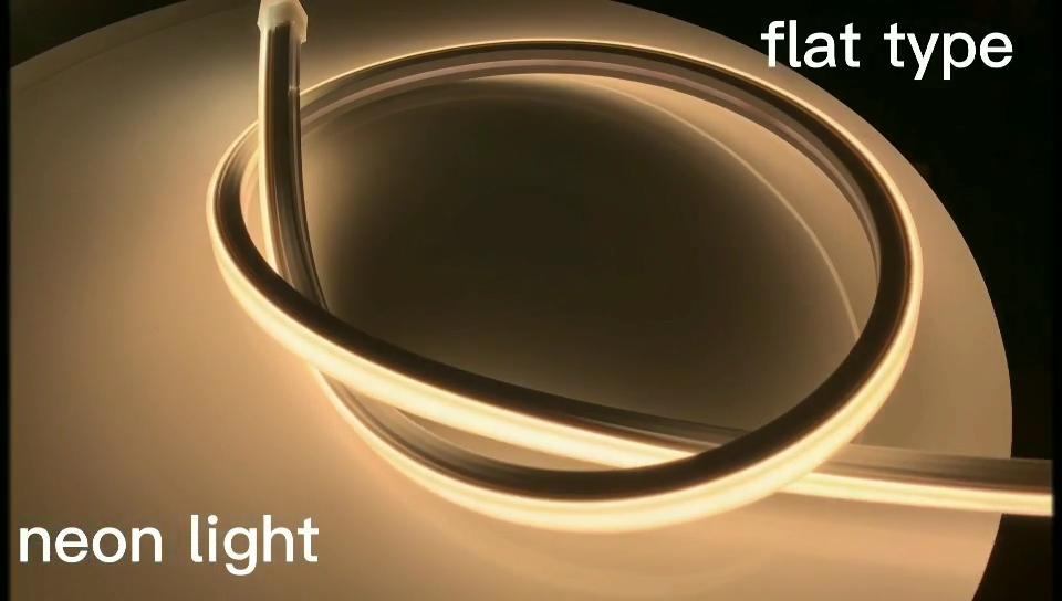 100% saydam silika jel kare IP65 LED esnek Neon dekoratif ışık açık özel 24v Neon ışıkları