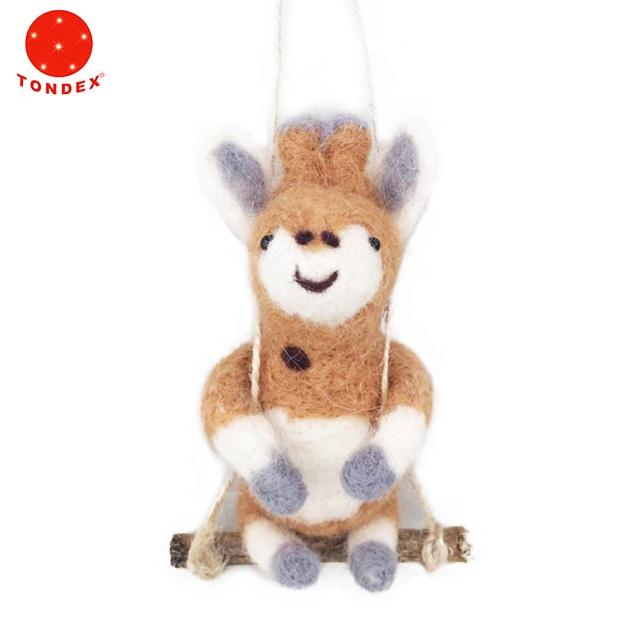 Indoor  Wool Deer Decor Home Handmade Ornament