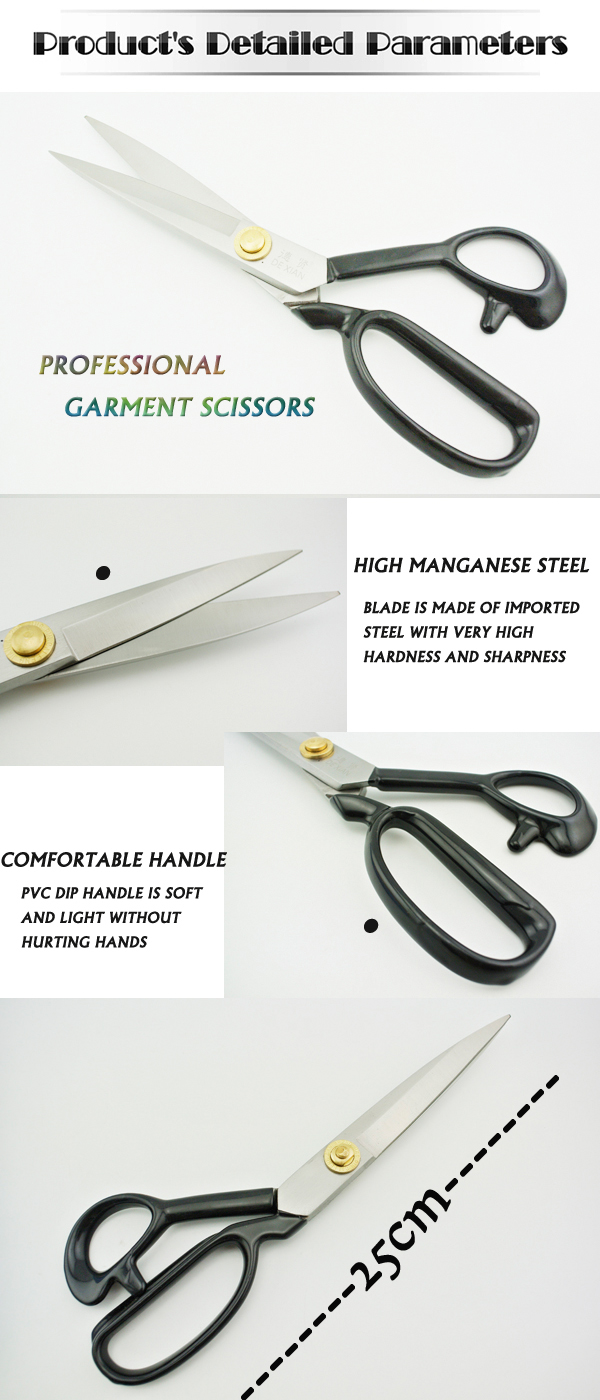 High manganese steel Forged steel Professional tailor scissors for sewing scissors