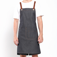 Original KEFEI High Quality Korean Chef Apron Barbecue Cooking Kitchen Apron 100% Cotton Denim Aprons for Work