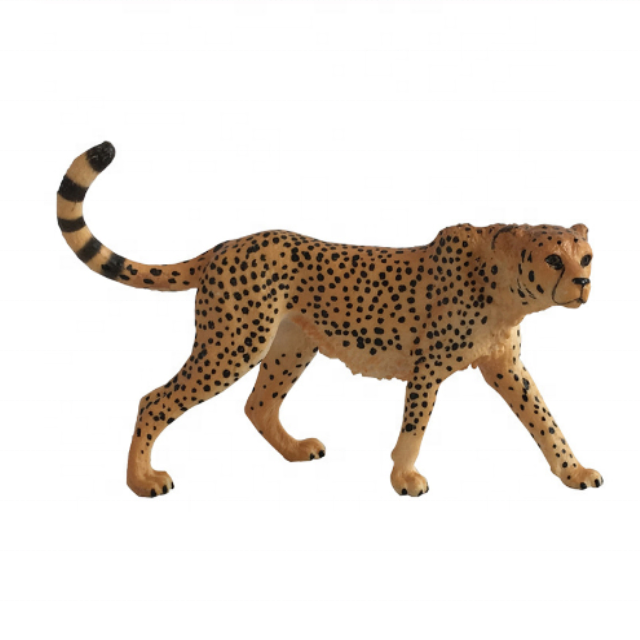 Dropshipping Plastic Zoo Animal Toys Action Figure Gorillas African Cheetah Antelope Lovely Animal Collection PVC Model Toys