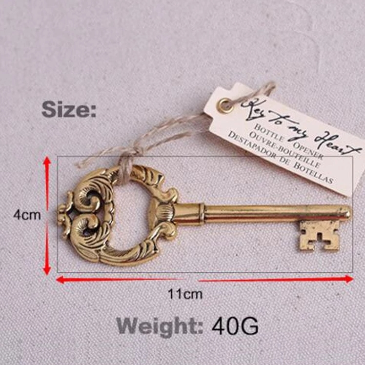Retro gold key bottle opener small gift party decoration