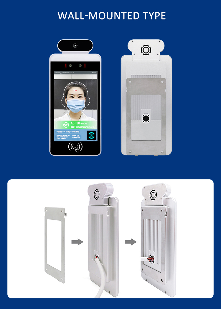 Electrical Thermo Scanner Access Control Cctv Camera And Temporature Face Recognition Attendance