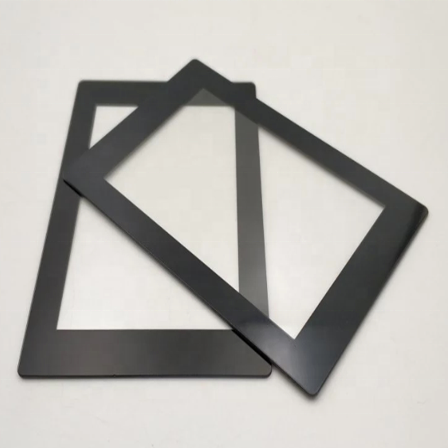 Super clear silk screened touch glass panel with AR coating