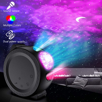 music control Starry Sky Light Ocean Projector lamp Colorful USB LED Moon nebula Night Light for Kids
