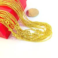 N-212 Hot sale in Thailand jewelry women gold necklace+fashion wholesale custom jewelry+24k gold thin chain necklace