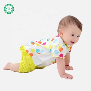 Summer Baby Girls Romper Spandex / Cotton Short Sleeve Baby Clothes Romper