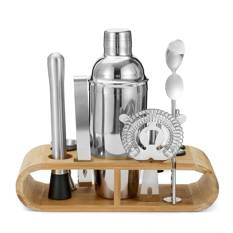 In acciaio inox su misura di lusso di miscelazione cocktail shaker bottiglia bar a casa kit Bartender Kit In Acciaio Inox Bar Set con 18oz/28oz