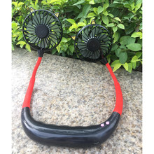 USB Перезаряжаемый вентилятор портативный подвесной шейный спортивный вентилятор для наушников дизайн мини-кулер носимые вентиляторы для ш...(Китай)