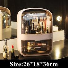 Прозрачный косметический Органайзер, креативная коробка для хранения косметики, переносной настольный органайзер, ящики для хранения, вод...(Китай)