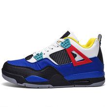 Новые Высокие баскетбольные кроссовки для мужчин, дышащая Спортивная обувь для улицы, ретро кроссовки для женщин и мужчин, Баскетбольная об...(Китай)