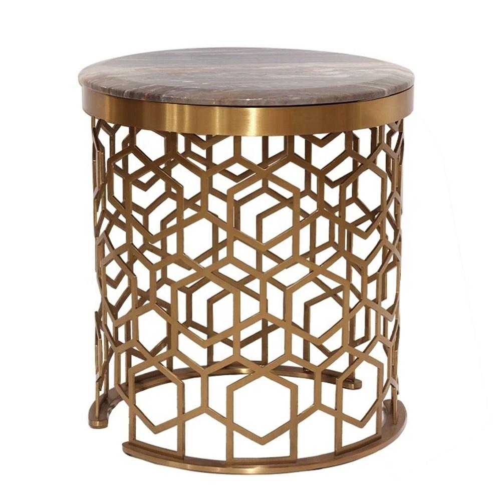 Высокое качество современный гостиной круговой выдалбливают кофе чая мраморный стол ноги