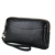 Unisex Cowhide Genuine Leather Coin Bags Clutch Cards Cash Wristlet Wallet Bag