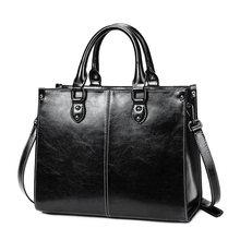 Yonder роскошные кожаные женские сумки, женская винтажная кожаная сумка на плечо, Большая вместительная сумка-тоут, сумки через плечо для женщ...(Китай)