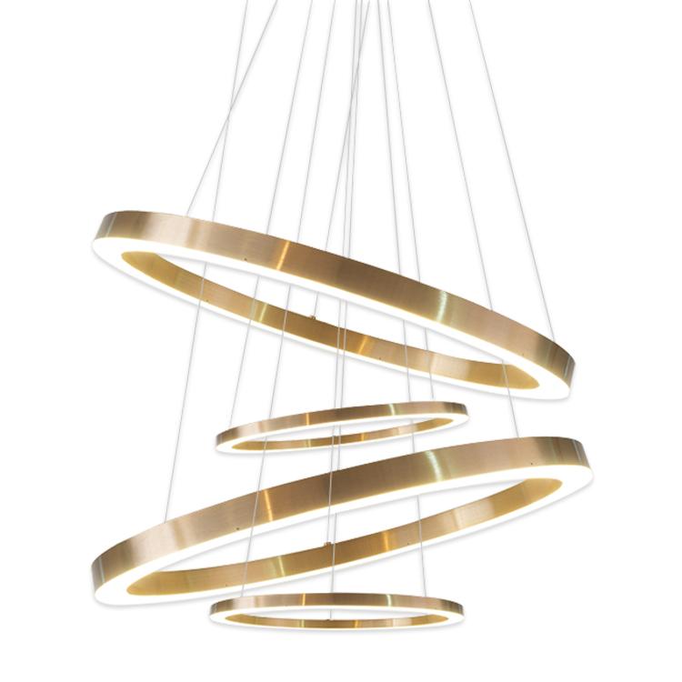 Hauslighting modern indoor decorative LED lighting metal hotel lobby chandelier