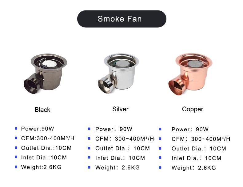 BARBEKÜ duman aspiratörü boru, paslanmaz çelik egzoz pipo, kaldırma sigara içen boru/fan/kapak