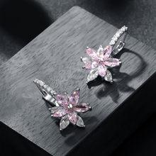Женские медные серьги с кристаллами, модные ювелирные изделия, Прямая поставка(Китай)