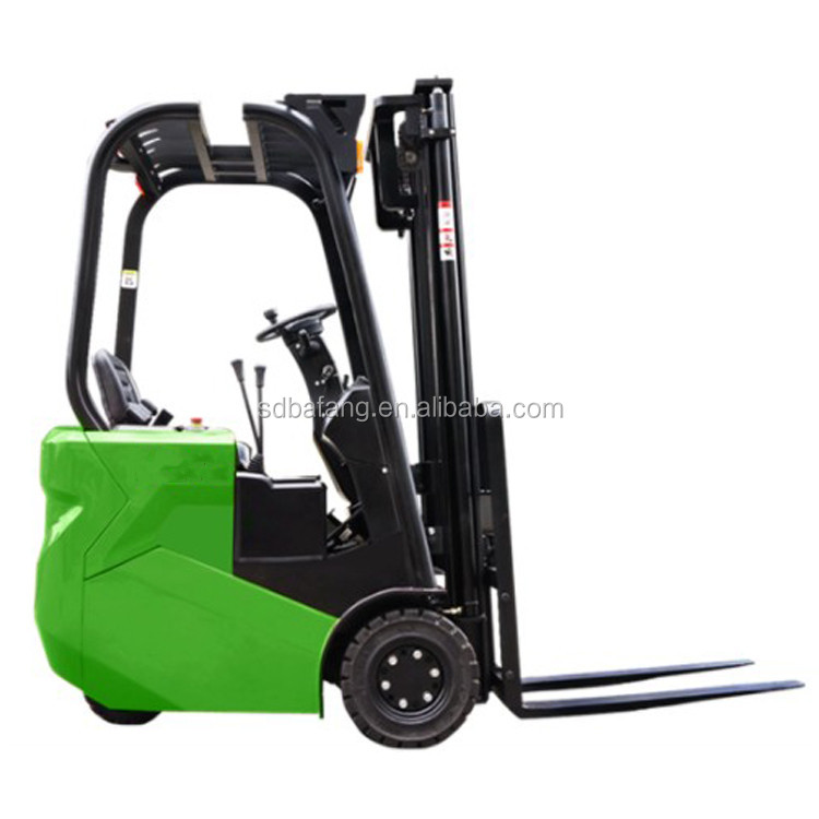 1 Ton High Quality Mini Battery Powered Hydraulic Seated Electric Pallet Stacker Forklift
