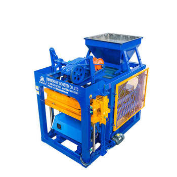 fully automatic cement hollow interlock paving blocks machine QT4-25 concrete block making machine for sale