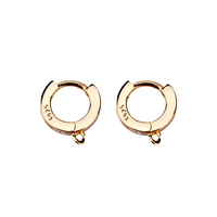 S925 silver spring buckle accessories manual DIY semi-finished Earrings accessories