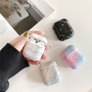 New Arrival Fashion Marble Pattern Protective Charging Box for Airpods marble hard case