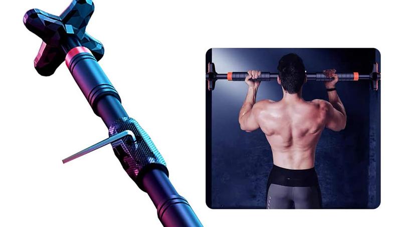 Adjustable Horizontal Bar Sit Up Bar Door Training Bar Exercise Workout Chin Up Pull Up Bars