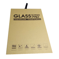 Custom Kraft Paper Mobile Tempered Glass Case Packing Paper Box Screen Protector