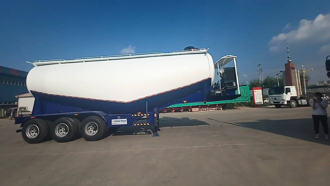 Factory Cement Bulk Tank Trailer 2 3 4 Axles Bulk Cement Tanker Trailer