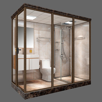2020 Hot selling rectangle all-in-one unit bathroom