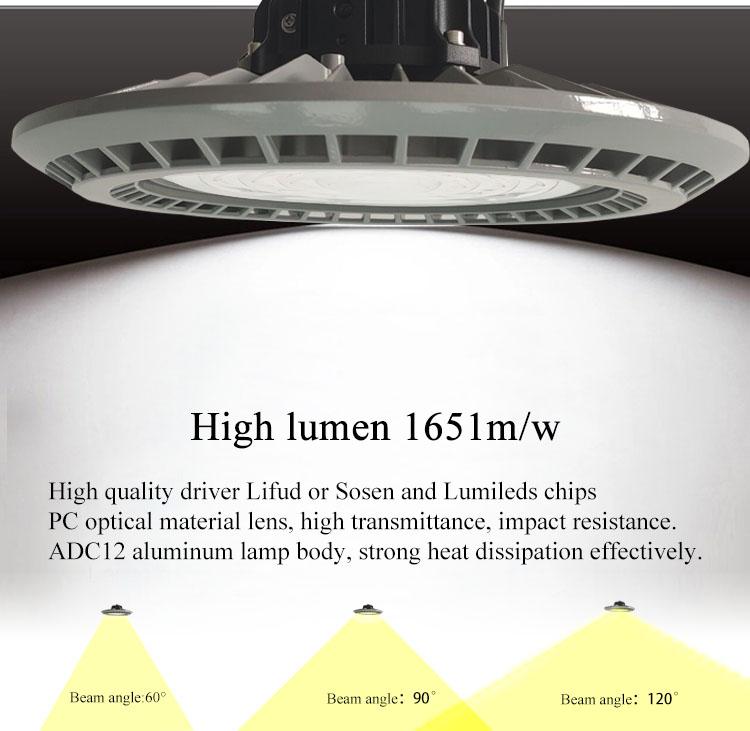 Unike 50% скидка цена по прейскуранту завода складское освещение 5 лет гарантии 100W НЛО СИД высокий свет залива