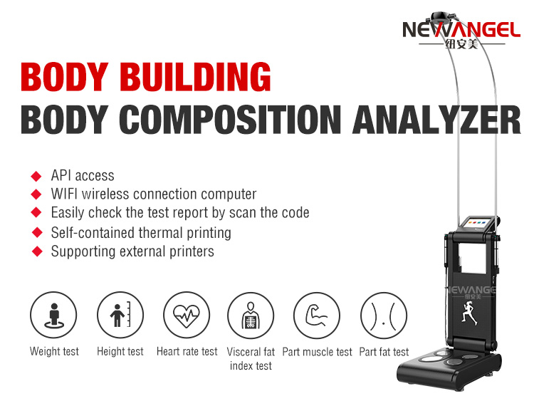 Multifrequency 20KHZ 50KHZ 100KHZ body composition analyzer with printer