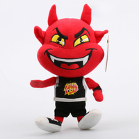 EN 71 plush custom stuffed toy mascot embroidered red devils