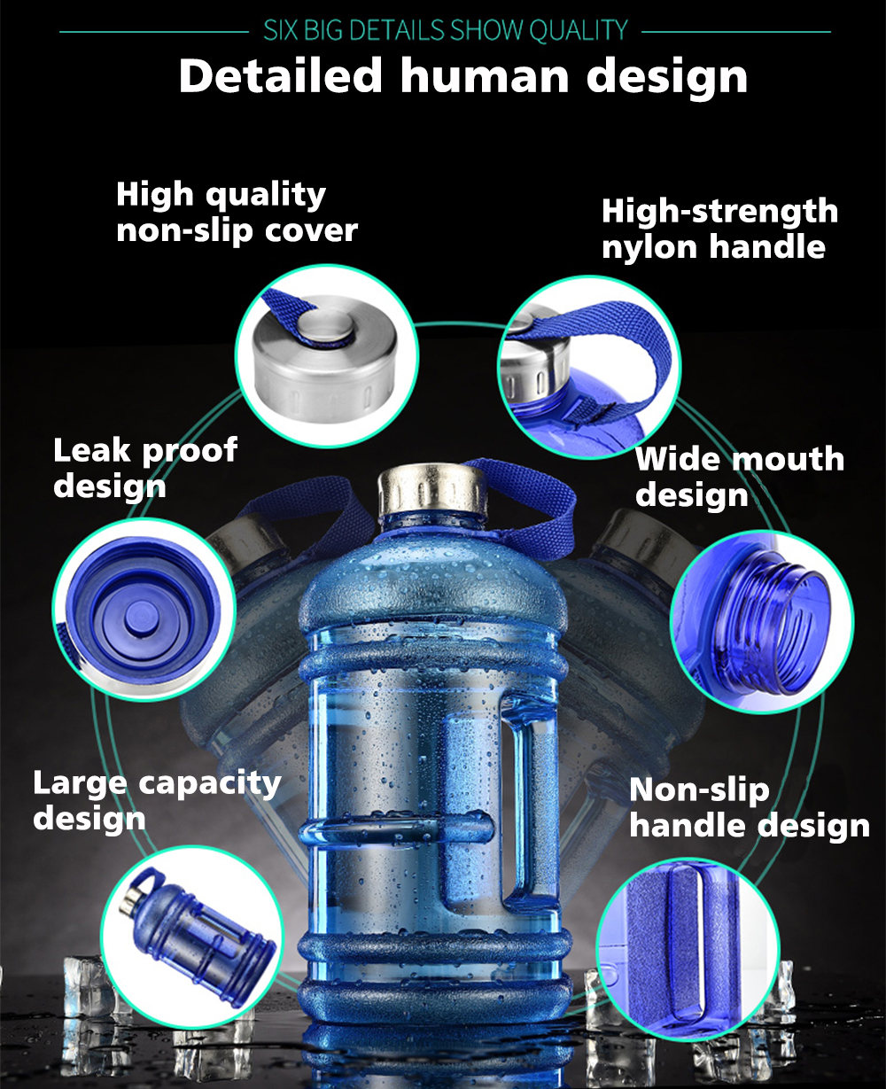 Wholesale Reusable Plastic Gym Half Gallon Plastic Drinking Water Bottle