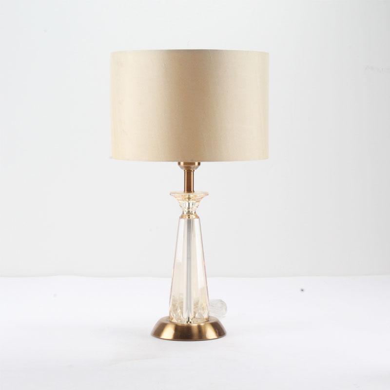 Современная модная оранжевая Хрустальная настольная лампа для украшения дома отеля