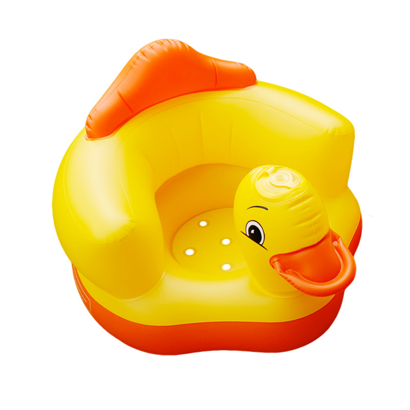 Best Selling PVC Folding Customized Cheap Yellow Duck Style Inflatable Baby Dining Chair