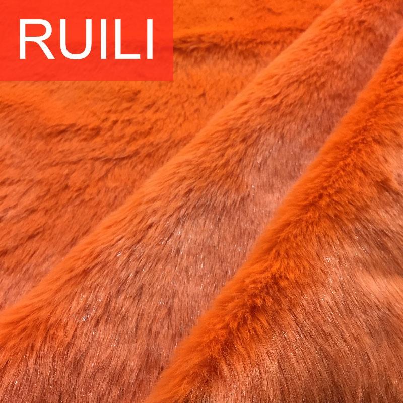orange 20mm hair length short pile 450 gsm fake faux artificial fur fabrics
