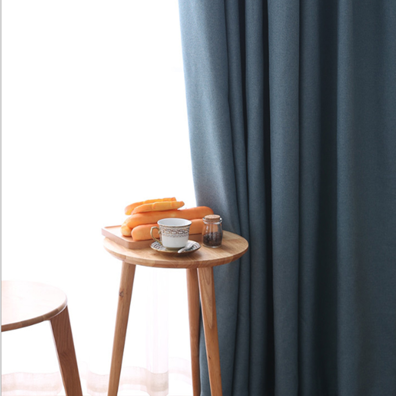 Nordic Style Ready Made Wholesale Solid Window Blackout <strong>Curtains</strong> <strong>For</strong> Bedroom Windows And The Living Room