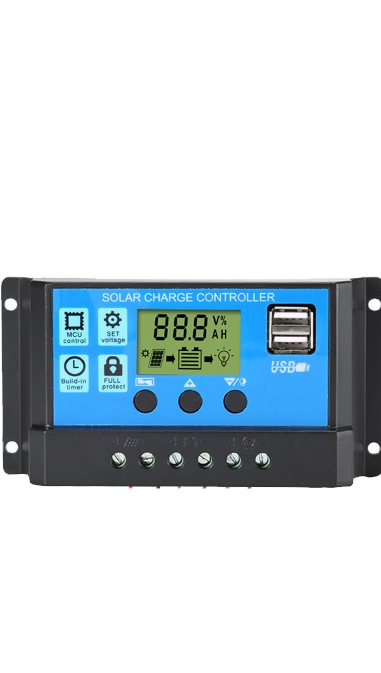 LCD display USB output 12V 24V Auto adapt solar panel battery charge controller