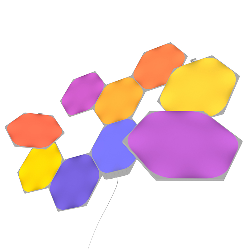 Wifi control Dimmable Rhythm Connectable LED Panel light Nanoleaf Aurora Panels Triangle Lights