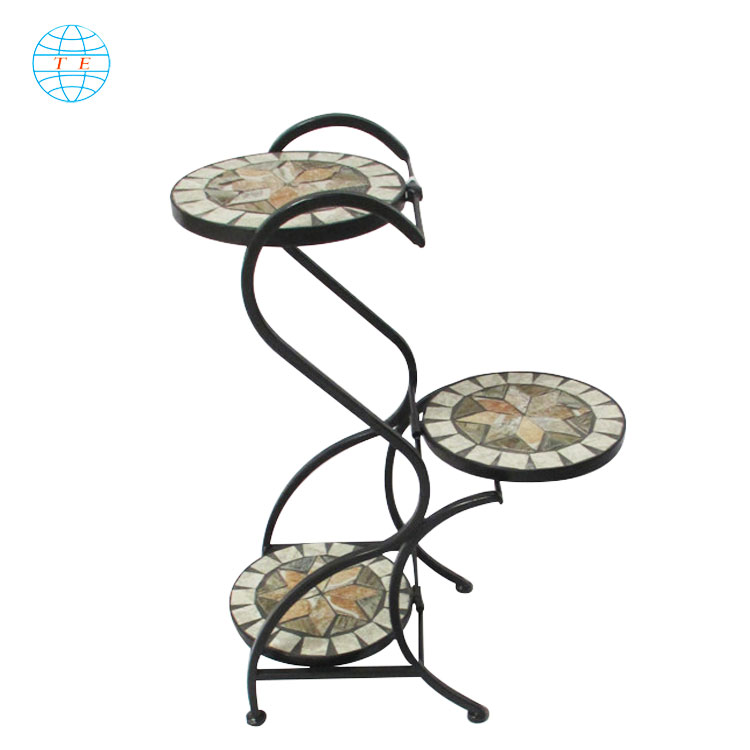 Beautiful Plant Stand Outdoor  Iron Flower Pot Stand,Cheap metal outdoor garden planter flower stand