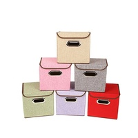 Multicolor stackable fabric shelf small cloth bins for storage