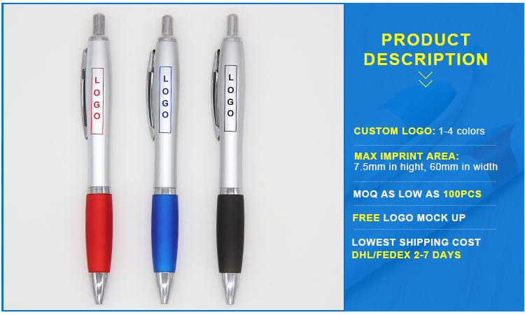 China best selling promotional ballpoint pen with company LOGO custom Free Samples