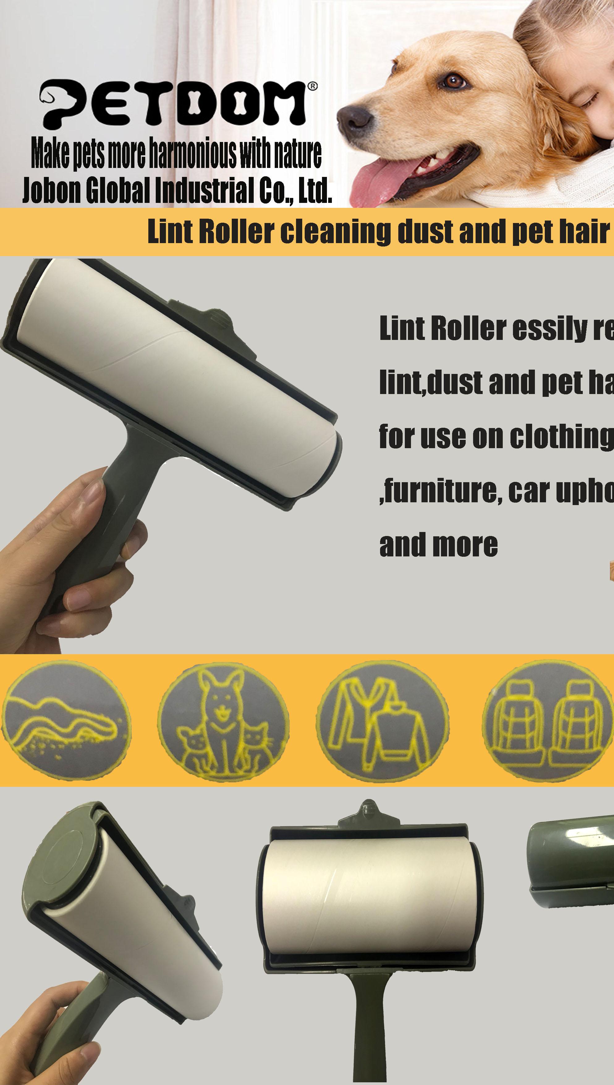 アマゾンホット販売家具車の室内装飾品詰め替えリムーバー衣類クリーニングダストとペットの髪粘着糸くずローラー犬猫