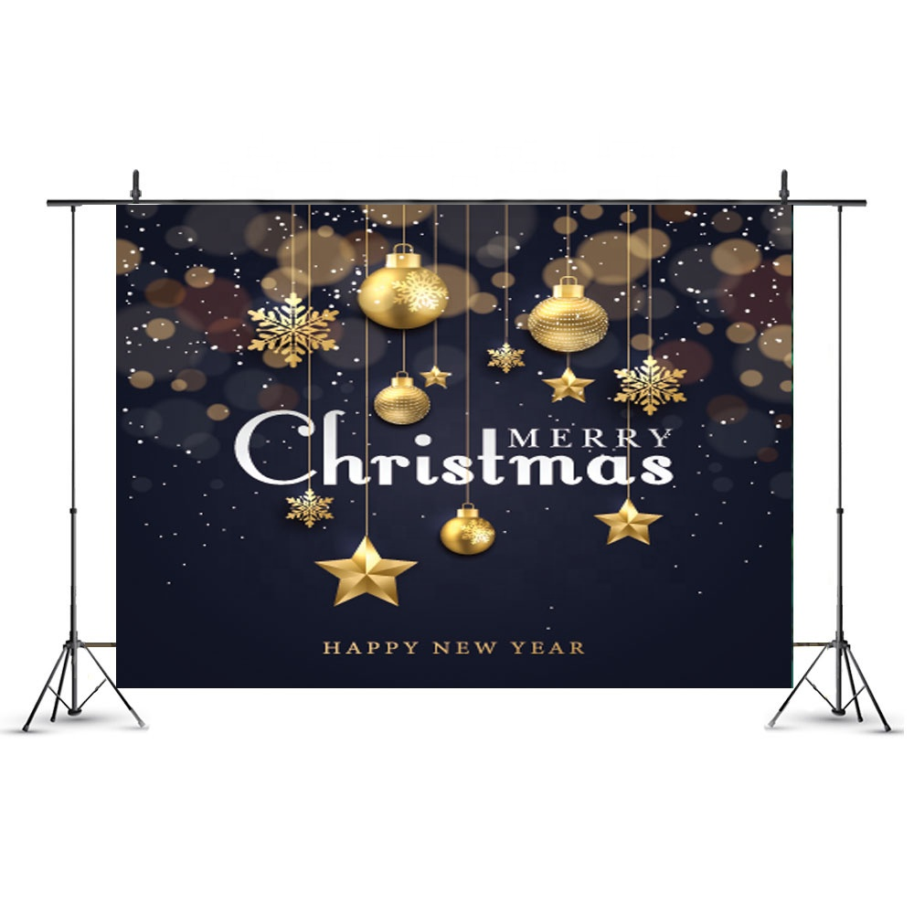 7x5ft Sparkling Stars Merry Christmas Backdrop New Year Party Supplies Photo Background Baby Shower Decoration Photo Booth Props