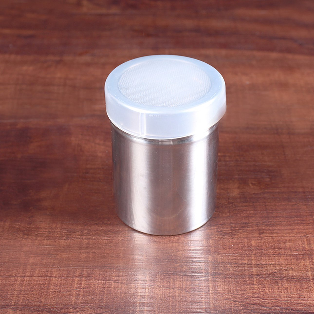 New 304 Stainless Steel Mini storage tank Seasoning Spray Bottle with stay fresh sealed lid for Cocoa Cinnamon Sugar Gauzer
