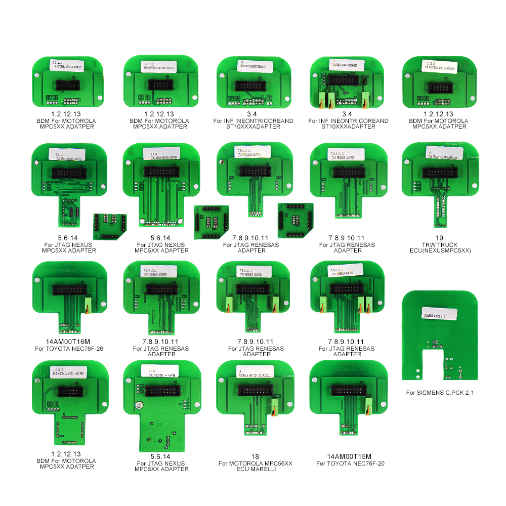 China Fabrikant Dimsport BDM Probe Adapters Volledige 22 sets LED BDM Frame ECU RAMP Adapters