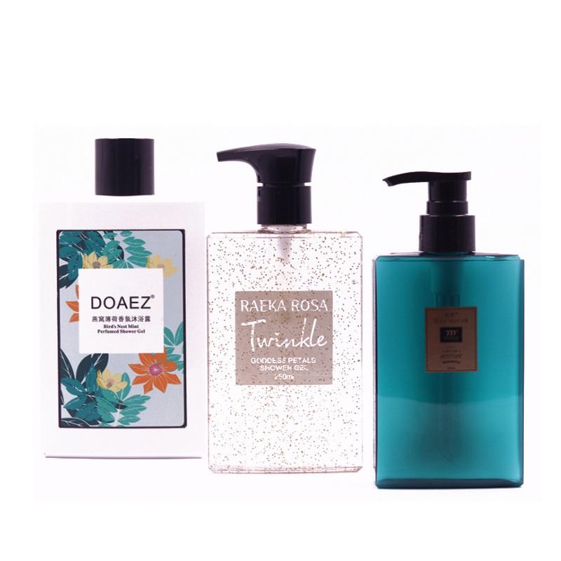200ml 260ml 400ml Leere Nachfüllbare Kunststoff Shampoo Dusche Gel Verpackung Flasche Container mit Kunststoff Pumpe für Make-Up kosmetische