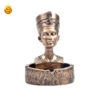 Amazon New Egyptian Character Head Ashtray Resin Crafts Home Decoration Hotel Ashtray Custom