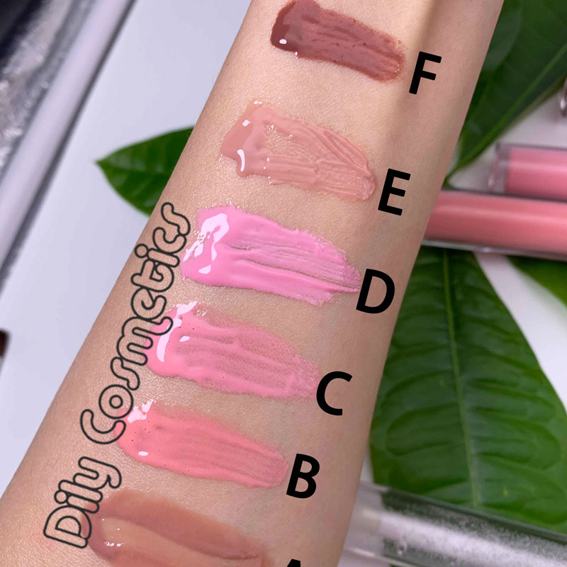 custom flower organic nude vegan glossy vendor clear private label lip gloss