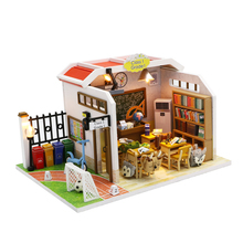 Handgemachte holz <span class=keywords><strong>diy</strong></span> eltern-kind 3d holz puppe haus geschenk produkte